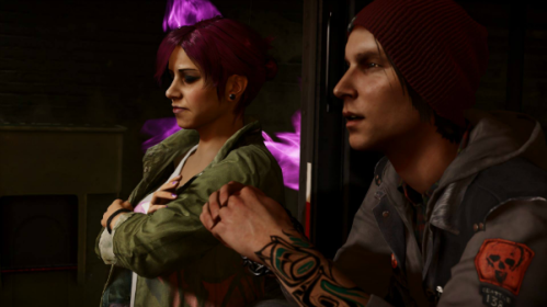 Fetch and Delsin in Infamous: Second Son